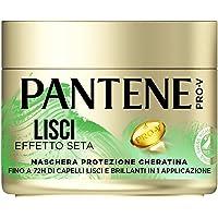 Pantene Pro-V Maschera Lisci Effetto Seta protezione Cheratina, per capelli crespi, 300ml