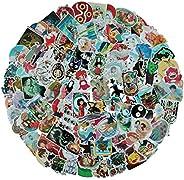 مجموعة من 100 ملصق مستوحاة من فيلم الرسوم المتحركة ميازاكي هاياو، مجموعات ملصقات عشوائية، للاستخدام مع زجاجات
