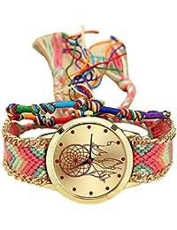 Reloj mujer original ❤️ Amlaiworld Moda Relojes niña Reloj de pulsera de cuarzo artesanal original mujer hecho a mano Reloj de Vestido de mujer Pulseras Joyería Señora Relojes de bolsillo reloj mujer deportivo fitness (B)