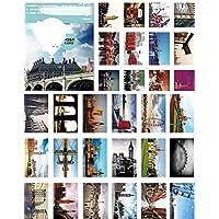 Set di 30 amore romantico in cartolina di saluti di Londra / Bookmark