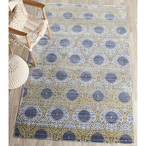 Safavieh Seamus gewebter Teppich, VAL106L, Lavendel / Gold, 121 X 182  cm