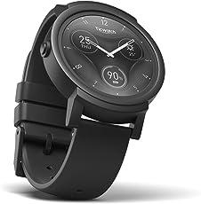 Lo Smartwatch Più Confortevole Ticwatch E Shadow, Display OLED 1,4 pollici, Android Wear 2.0, Compatibile con iOS 9.0+ Apple iPhone e Android 4.3+ Samsung, Huawei, LG, Asus, Wiko,Nokia,Sony Ericsson,Alcatel, Vivere una vita organizzata