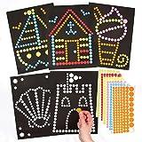 Disegni Balneari con Puntini Adesivi per Bambini da Creare, Realizzare e Decorare come Idea Creativa Estiva (confezione da 8)