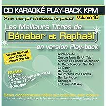 CD Karaoké Play-Back KPM Vol.10 Benabar et Raphaël