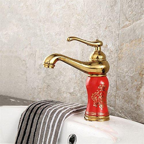 ETERNAL QUALITY Bad Waschbecken Wasserhahn Küche Waschbecken Wasserhahn Kupfer Badewanne Heiß Und Kalt Vintage Einlochkeramik Waschtischmischer BEG720 (Vintage-kupfer-badewanne)