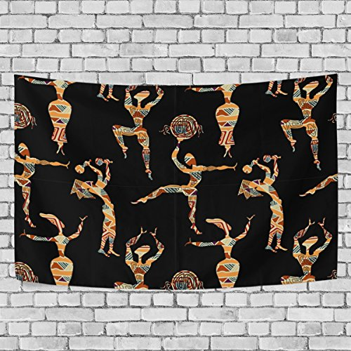 jstel Afrikanische Kunst Wandteppich für Dekoration für Wohnung Home Decor Wohnzimmer Tisch Überwurf Tagesdecke Wohnheim 152,4x 101,6cm, Textil, multi, 51x60 inch - Afrikanische Wohnzimmer Tisch