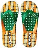 Sparx Men's Green and Orange Flip Flops Thong Sandals - 9 UK/India (43.33 EU)(SF2041GGROR)