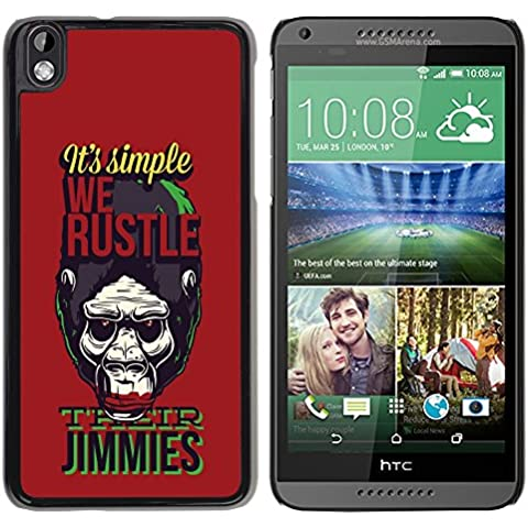 [ For HTC DESIRE 816 ][ Xtreme-Cover ][ Hart Rückseite Schutzhülle Case ] - Funny - We hustle Gorilla Monkey Ape Apes