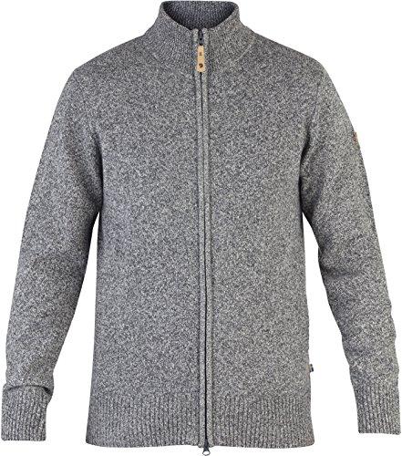 Fjällräven Övik Cardigan Jacket Men - Strickjacke aus Wolle dark grey