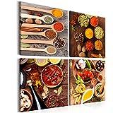 murando Bilder Küche 80x80 cm - XXL Format LEINWAND AUFGESPANNT