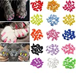 JOYJULY 100pcs Cat Nail Caps Pet Cat Claw Kitty Caps Control Soft Paws of 5 Different Colorful Nail Covers for Cats+ 5… 9