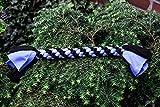 VARILANDO Dog-Toy, Fleece Zergel für Welpen und erwachsene Hunde, Apportier-Spielzeug, spielerische Belohnung, Zerrspielzeug (Ø 3,5 cm, hellblau-dunkelbraun)