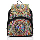 TYWZF Zaino Per Laptop Antifurto Large Compartment College School Bag Retro Per Uomini E Donne Per Laptop Da 15,6 Pollici