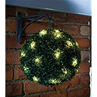 28CM DUAL FUNCTION SOLAR POWERED TOPIARY GARDEN BALL SPHERE 20 LED LIGHTS by savingworld