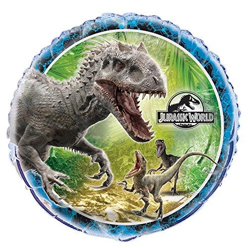 Mundo Jurásico - globo de la hoja (A 45cm) - cumpleaños y el partido