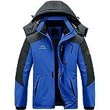 EKLENTSON Mens Coats-Winter Waterproof Jacket Windbreaker Climbing Skiing Jacket Fleece Warm Outerwear Sports Hooded Coat Mul