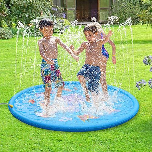Dracarys Wasserspielzeug Kinder - Splash und Sprinkler Pad Spielmatte - Wasser Sprühen Spielzeug - Sommer Spaß Draussen Garten Rasensprenger Spielzeug für Kinder Jungen Mädchen (68 Zoll Durchmesser)