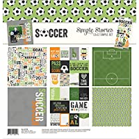 "Simple Stories 7870Fútbol 12""X 12"" colección Kit"