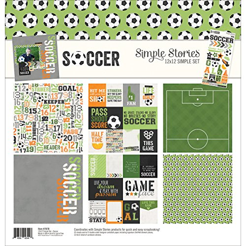 Scrapbooking Sticker Basketball (Simple Stories 7870 Fußball 30,5 x 30,5 cm Collection Kit)