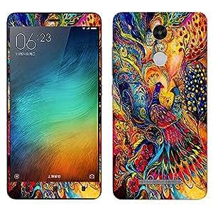 Multicolor peacock Xiaomi Redmi Note 3 decal (skin)