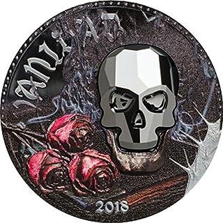 Kristall Skull - Vanity 1000 CFA Franken Swarovski & Silbermünze 1 Unze - Äquatorialguinea 2018