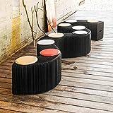 JH Einfarbiger zusammenklappbarer Stuhl Kreativer tragbarer Papierstuhl wiegt 5000 Gramm pro Quadratmeter mit 9 Kissen, 12 Leute (Color : 12-Seater (9 Black Pads))