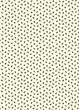 The Art File creme Bienen Design Geschenkpapier 4Blatt (GW72)