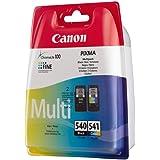 Canon - Lot de cartouches d'encre - 1 cartouche noire et 1 cartouche couleur- Modèles Canon PG540-CL541