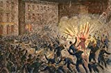The Poster Corp Haymarket Riot 1886. /Nriot At Chicago May 4 1886. Wood Engraving. Fine Art Print (60.96 x 91.44 cm)