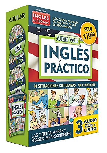 Inglés En 100 Días - Inglés Práctico - Audio Pack (Libro + 3 CD's Audio) / English in 100 Days - Practical English Audio Pack (Ingles en 100 dias) por Aguilar