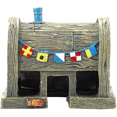 Decoración Ornamento Adorno para Acuario Pecera Forma de Casa