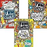 N.N. Tom Gates von Liz Pichon im Set: 1. Wo ich bin, ist Chaos + 2. Eins-a-Ausreden + 3. Alles Bombe