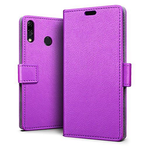 SLEO ASUS ZenFone 5 (2018) ZE620KL/ZS620KL Hülle, PU Leder Case Tasche Schutzhülle Flip Case Wallet im Bookstyle für ASUS ZenFone 5 (2018) ZE620KL/ZS620KL Cover - Lila