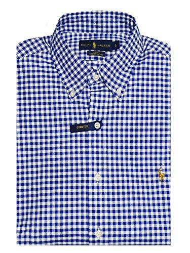 Ralph lauren -  camicia casual - con bottoni - button-down - manica lunga - uomo blu scuro m