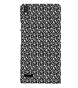 EPICCASE raining hearts Mobile Back Case Cover For Huawei Ascend P6 (Designer Case)
