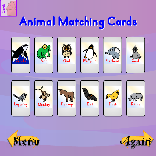 Matching-spiel Tier (Tier Matching Cards)
