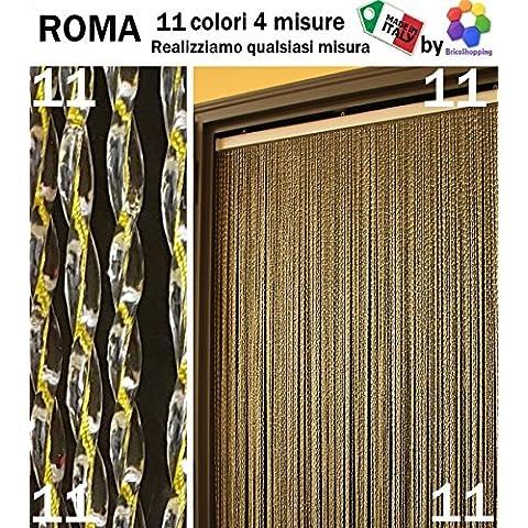 TENDA MOSCHIERA ZANZARIERA PVC ROMA 11 COLORI 4 MISURE MADE IN ITALY By BricoShopping (cm 150x250h, (11) Giallo )
