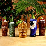 Tazze in ceramica per cocktail party stile tropicale Tiki - set di 5