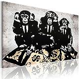 murando Impression sur Toile intissee 90x60 cm 1 Piece Tableau Tableaux Decoration Murale Photo Image Artistique Photographie Graphique Banksy 030115-49