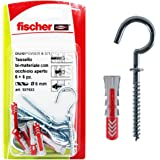Fischer 537633 pluggen Aperto Duopower, grijs/rood, 6 x 30 mm, 6 stuks