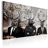 murando - Bilder Hirsch 120x80 cm Vlies Leinwandbild 1 TLG Kunstdruck modern Wandbilder XXL Wanddekoration Design Wand Bild - Tiere Abstrakt g-C-0059-b-a