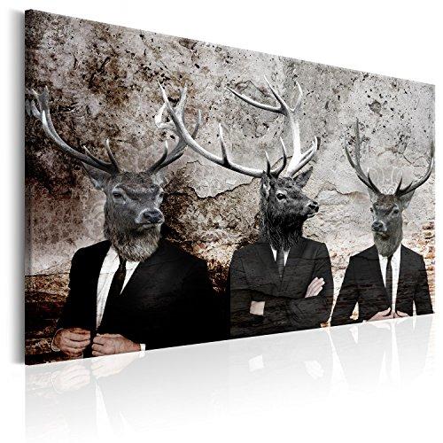 murando - Bilder Hirsch 120x80 cm Leinwandbild 1 TLG Kunstdruck modern Wandbilder XXL Wanddekoration Design Wand Bild - Tiere Abstrakt g-C-0059-b-a