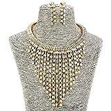 35686501d91e9 Bijoux de mode Filles Longue Alliage Or Cristal Déclaration Femmes Collier  et Des boucles d'