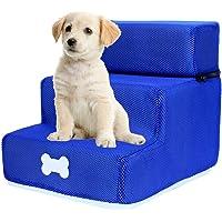 ranninao Hundetreppe Für Kleine Hunde Mit 3 Stufen Haustiertreppe Klappbar Hundetreppe, Abnehmbar&waschbar…