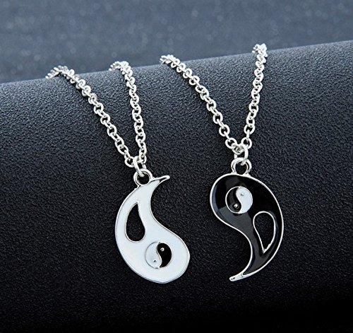 Shina 2016 en forma de YIN YANG de plata de la antigüedad de collarde los colgantes en chino muy popular de estilo estilo chino Tai Chi joyería