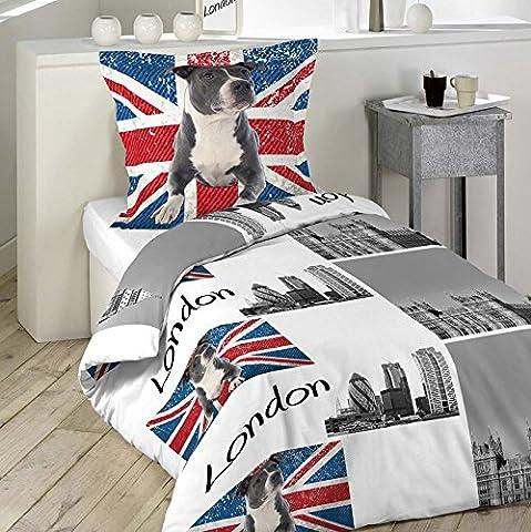 Housse De Couette Union Jack - Parure Housse de couette Enfant LONDON et