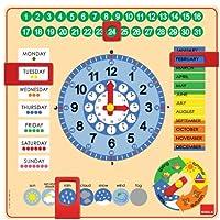 Jumbo Goula Wooden Calendar Clock