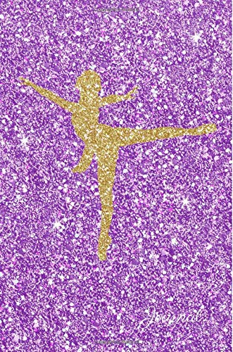 Journal: Gold Ballerina Dancer Purple Faux Glitter Lined Paper Dairy Notebook | Gift for Adults and Kids por MSquared Glitter Designs