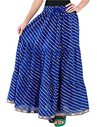 Stylish Women's Cotton Jaipuri Long Sanganeri Skirt (MultiColored ) For Women/Girls/Ladies By SHOP FRENZY