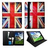 Archos 101c Platinum 10.1 zoll Tablet Union Jack Universal Wallet Schutzhülle Folio ( 10 - 11 zoll ) von Sweet Tech